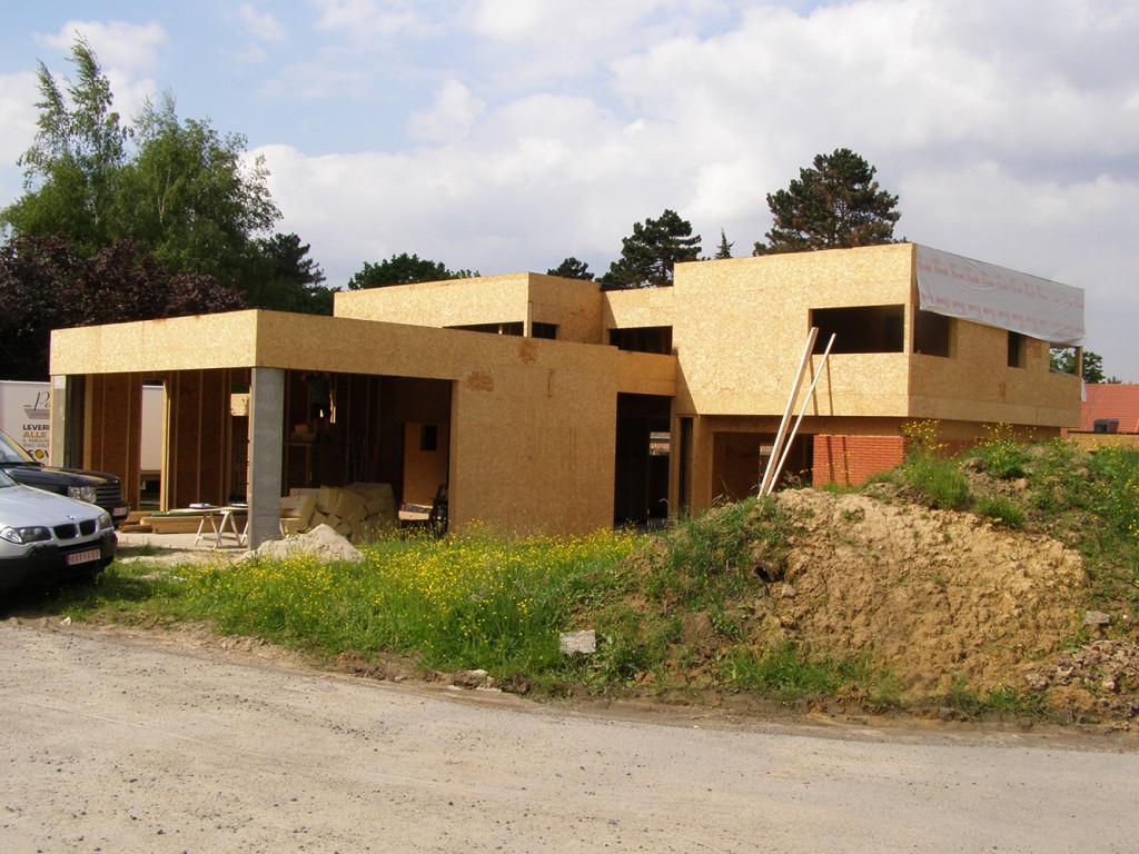 Construction villa bois